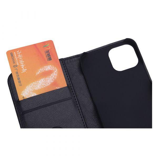 Fashion - iPhone 13 MINI - vegansk lær - 86% beskyttelse - svart