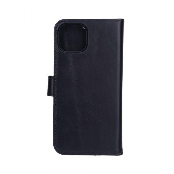 Exclusive 2-i-1 - iPhone 13 - ekte lær - 86% beskyttelse - svart