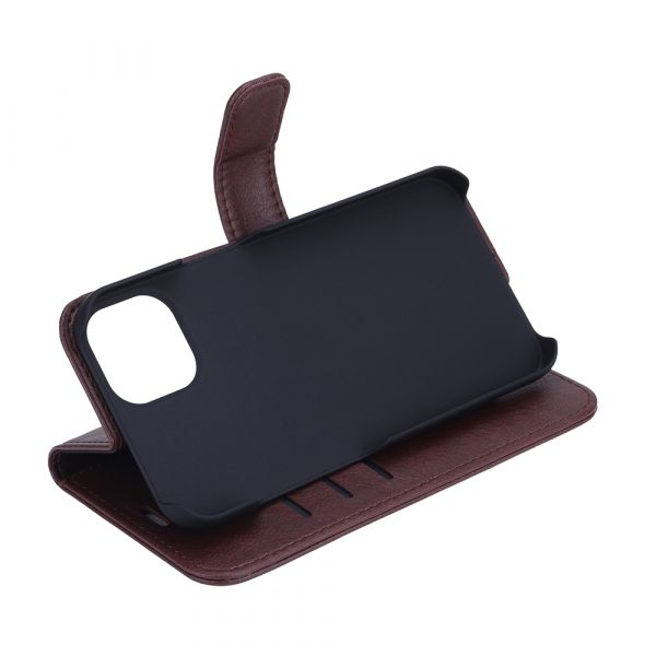 Fashion - iPhone 13 - vegansk lær - 86% beskyttelse - brun