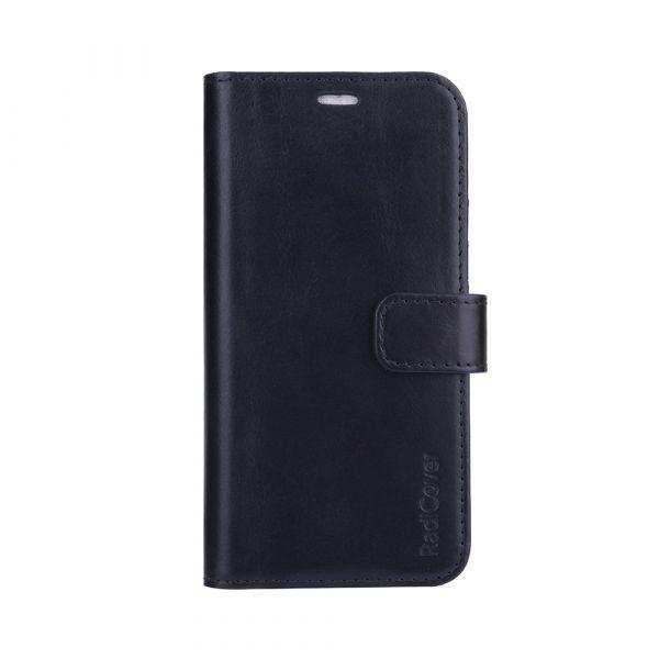 Exclusive 2-i-1 - iPhone 13 PRO - ekte lær - 86% beskyttelse - svart