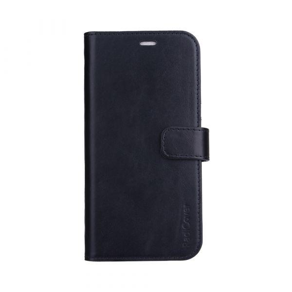 Exclusive 2-i-1 - iPhone 13 PRO MAX - ekte lær - 86% beskyttelse - svart